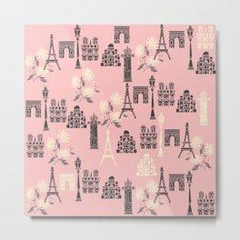 Cute Paris Print Metal Print