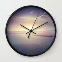 pocket fuel Wall Clocks featuring Fuel by HappyMelvin