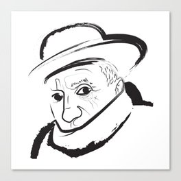 Picasso Line Drawing Canvas Print