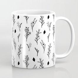 ink drawing floral pattern illustration line art Coffee Mug