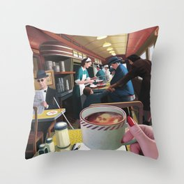 Blue Plate Special by Jeff Lee Johnson Throw Pillow