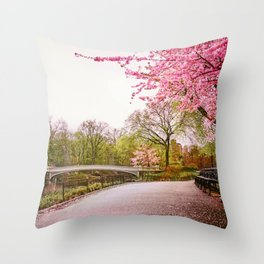 Cherry Blossoms Romance Throw Pillow