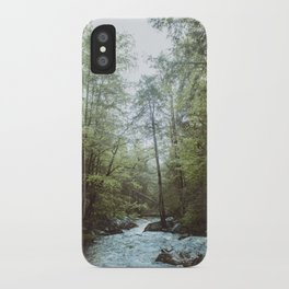 Peaceful Forest, Green Trees and Creek, Relaxing Water Sounds iPhone Case