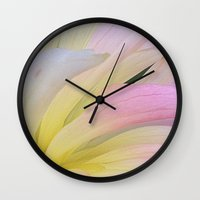 water color Wall Clocks featuring Water Color by I am mof