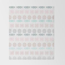 Pastel pink green hand painted scandinavian geometrical Throw Blanket