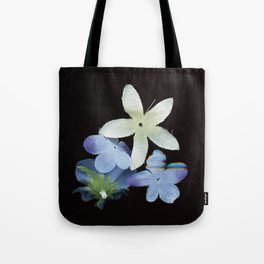 Artificial Flowers Glitched Scan Tote Bag