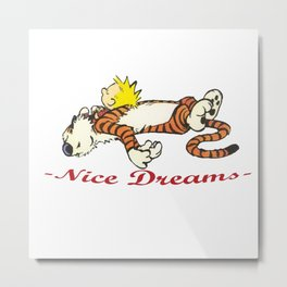 Calvin And Hobbes Sleep Metal Print
