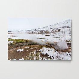 Geysir- Mist Metal Print