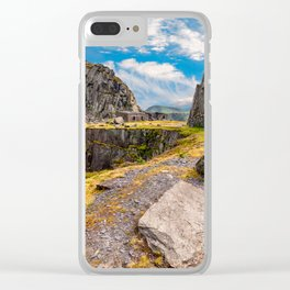 Dinorwic Slate Quarry Snowdonia Clear iPhone Case
