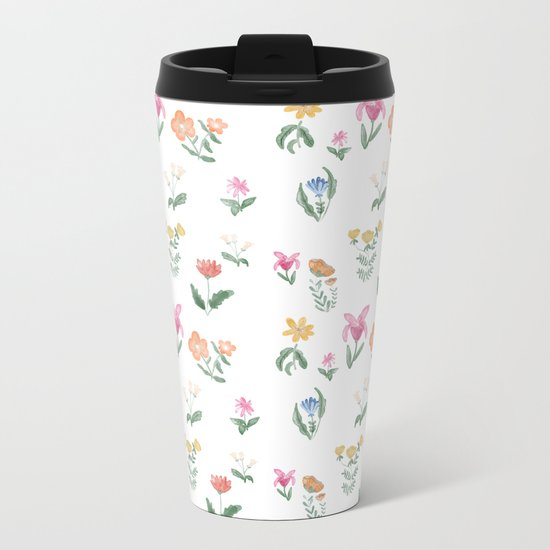 Spring Garden Metal Travel Mug