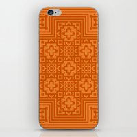 orange pattern iPhone & iPod Skins featuring Orange Pattern by White Wolf Wizard