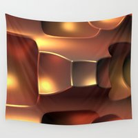 copper Wall Tapestries featuring Copper Toned by Lyle Hatch