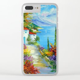 Midday by the sea Clear iPhone Case
