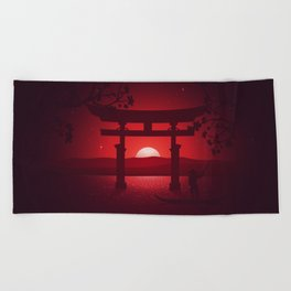 Itsukushima Shrine Beach Towel