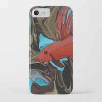 band iPhone & iPod Cases featuring Betta's Band by Distortion Art