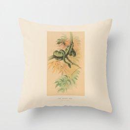 The Green Tree Boa Throw Pillow