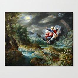 God creating the Sun, the Moon and the Stars Canvas Print