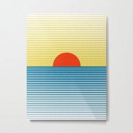 Beach in the sun Metal Print