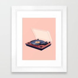 Music in History - Record Player Framed Art Print