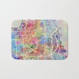 San Francisco City Street Map Bath Mat