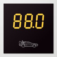 delorean Canvas Prints featuring DeLorean by Adikt