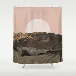Pink Sunset Shower Curtain