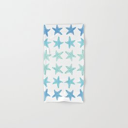 Blue Watercolor Starfish Hand & Bath Towel