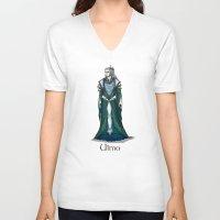 valar morghulis V-neck T-shirts featuring Ulmo by wolfanita