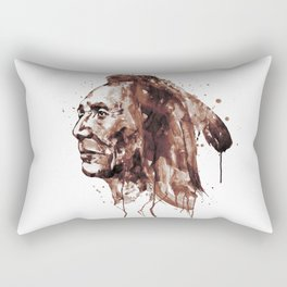 Indian Warrior Sepia Tones Rectangular Pillow