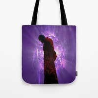starlord Tote Bags featuring Lord Of A Galaxy by Rachcox