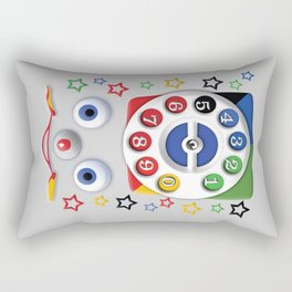 Retro Vintage smiley kids Toys Dial Phone iPhone 4 4s 5 5s 5c, ipod, ipad, pillow case and tshirt Rectangular Pillow