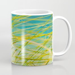 Seagrass By The Ocean Blue Waves Colorful Green To Blue Gradient Coffee Mug