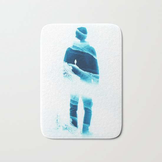 Love Isolation in Teal Bath Mat