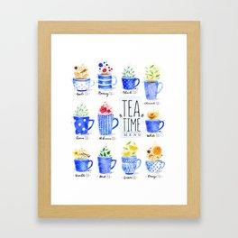 Tea Time Menu Framed Art Print