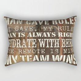 Man Cave Rules Beer Rectangular Pillow