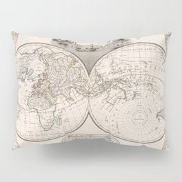 Vintage Map of The World (1812) Pillow Sham