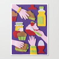 breakfast Canvas Prints featuring Breakfast by Jacopo Rosati