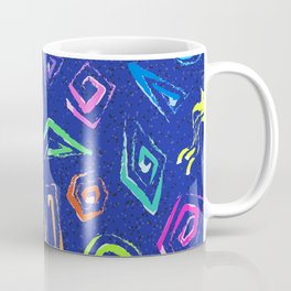Surf Spiral Shapes in Neon Periwinkle Coffee Mug