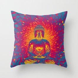 Crystal Buddha Throw Pillow