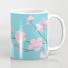 Cherry Blossom - Robin Egg Blue Coffee Mug