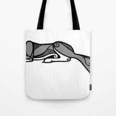 Sleeping Grey Wolf Tote Bag