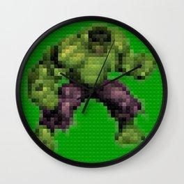 Green monster - Toy Building Bricks Wall Clock