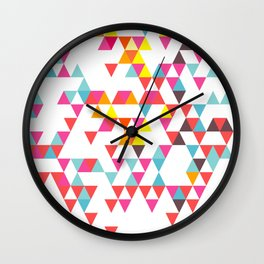 Tri Colour Series 7 by Eamon Donnelly Wall Clock