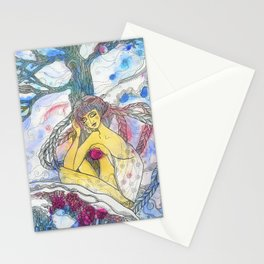 Lady Winter Stationery Cards
