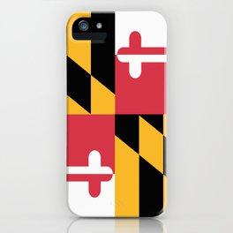 Maryland State Flag Patriotic Design iPhone Case