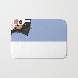 Australian Shepherd cute pastel aussie owner gifts must haves for dog person customized pet portrait Bath Mat
