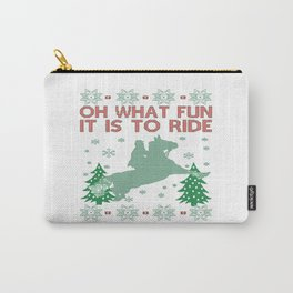 Riding Horse Christmas Carry-All Pouch