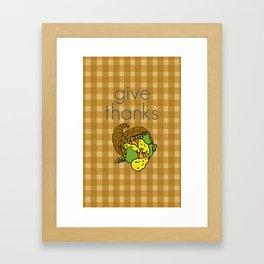 Give Thanks, November Cover Framed Art Print