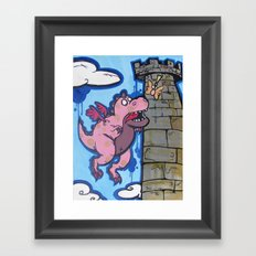 Dragon With Butterfly Wings Framed Art Print