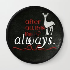 Harry Potter Severus Snape After all this time? - Always. Wall Clock